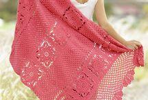 Gehaakte dameskleding accessoires/ crochet ladieswear accessoiries