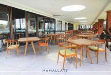 Meritus Hotel Lobby & Restaurant / Full Installations, Interior Design and furniture manufacturing done by Mahallati Interior. www.mhllt.com