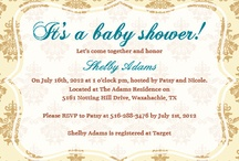 Baby Shower Invitations / Customizable baby shower invitation templates. Create your own with your photos and text. / by ModernGreetings.com