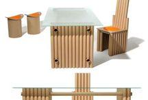 Nábytok z kartónových rúrok