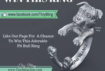 Pit Bulls Love Tiny Bling / Tiny Bling Pit Bull stuff. www.TinyBling.etsy.com