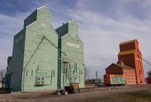 Grain Elevators / Those prairie sentinels, the grain elevators.