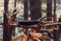 Camperen / Koken op open vuur