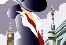 Art Nouveau, Art Deco, Twenties and Thirties / Some of my favorite visual styles!