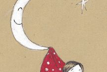 Les étoiles et la lune