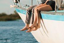 Yacht engagement photoshoot