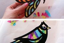 Stained glass craft cardboard