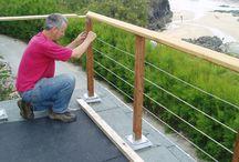 Balustrade support rails