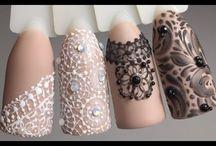 Дизайн ногтей кружево
