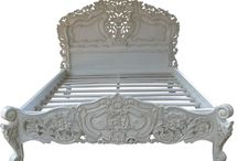 Rococo / Elegant French traditional style furniture. Includes Beds, Tables and Chests. This style furniture all goes together so well and creates a lovely soft look which is both feminine and stylish.