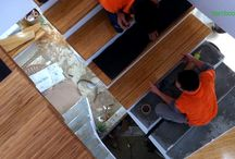Cầu thang tre ép | Bamboo Staircase / Hình ảnh và clip cầu thang tre ép do Bamboo'Ali thực hiện.