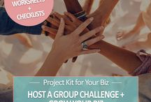Business Project Kits / Kits that include step-by-step plans, templates, checklists, worksheets and more! You can use them to fast-track your business projects, or hand them over to your virtual assistant to do the work for you, or use them with your paying clients!