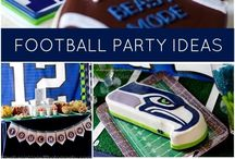 Boy's Football/Superbowl Party / Football | Touchdown | boy | birthday | party | ideas | cake | decorations | themes | supplies | favor | invitation | cupcakes| cakepops / by Spaceships and Laser Beams