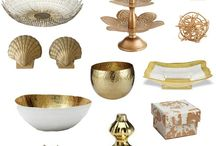 Gold home accessories