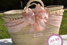 Capazos de playa y toallas personalizadas / Nuestros capazos de playa a juego con toallas bordadas personalizadas. www.cottonsweet.es