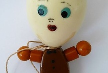 Vintage Celluloid, Roly Poly Toys & Bead Dolls