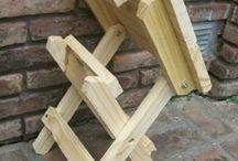 banco de madeira dobravel