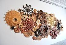 ideas mural decorativo en madera