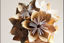 Origami kvet