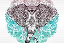Слоны. Ганеша. Мандалы