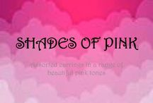 SHADES OF PINK / Unique, handmade earrings in shades of PINK