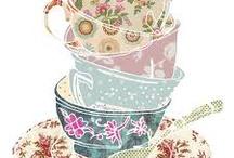 Cups, coffee and tea