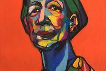 Pastel, color. pencils  woman