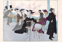 Eye catching caricatures from 1902 / Wonderfully fun and graphically arresting caricatures of Parisian society at the turn of the 20th century by Georges Goursat, better known as SEM.