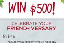 K-J Friend-inversary-contest / by Beth Klocinski Stevens