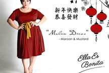 2015 - Mulan Dress / Dress for Chinese New Year which specially designed for sophisticated curvy women originally made by Indonesian Designer & Local Brand: Ella Es Bonita.
