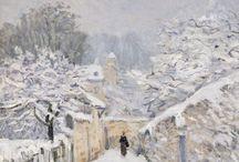 winter landscape in paiting - zimní krajina v malířství