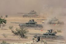 Indian army / T90 tanks in action