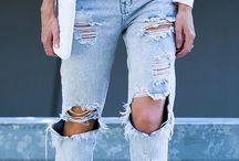 Inspiraciones Trendy Clothes / Ripped Jeans and Tulle Skirts / Pantalones rotos y faldas de tul