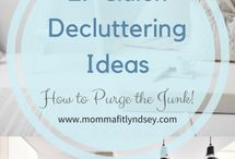 Decluttering Tips / Awesome decluttering tips and ideas, how to reduce clutter in your home, decluttering checklists, decluttering challenges, simple living ideas, minimalist living tips, inspiration for a orderly organized home.