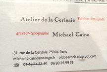 Cartes de visite / business cards