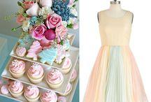vintage pastel holiday party / wedding