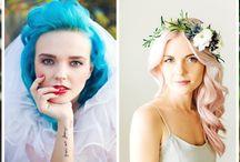 Kolorowe włosy Panny Młodej