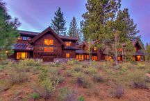 """8425 Jake Teeter, Lahontan, Truckee CA / Connect with your family and invite your friends to enjoy supreme comfort and relaxation in this classy """"turnkey"""" mountain lodge. Timber framed and elegantly crafted, this lodge captures the essence of contentment and tranquility through it's expansive living, dining and intimate spaces. Congregate in the grand mess hall around the glass enclosed fire pit or retire to one of many private dens, media room, or library nook for any season."""