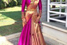 Saree with skirt