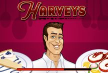 HARVEYS video slot / Scatter, Wild Symbol, and a Gamble Feature. These are some of the features players will encounter on the 5 reels 25 paylines #slots