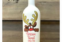 Christmas bottles / https://m.facebook.com/fabricademesaje/