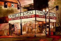 Powell's Bookstore / I was born and raised in Portland, Oregon. Left at 29 to do filmmaking in NYC. Portland is home to Powell's bookstore, you think Strand Bookstore is large in NYC or any of the Barnes and Nobles, this one houses much much more and they are new and used.