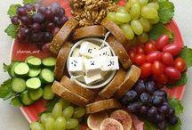 foods and salads decoration