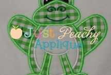 Embroidery Designs - Just Peachy Applique / by Jessica Gonzalez