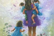 Anne çocuk resim