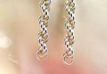 Pendientes de anilla forma cordon