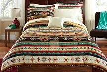Southwest Native American Indian Bedding & Decor / Decorating your bedroom with a mix of earth and sky with budget-wise bedding and accessories.