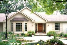 Home Exteriors / As we casually look at potential new homes, we are seeing a lot of ranch homes... Some may need an up date.  / by Katie Connell