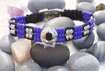 Beaded Dog Collars / Stylish Beaded Dog Collars Using The Finest Beads woven with Strong Paracord.