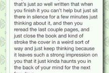 My deep love for books